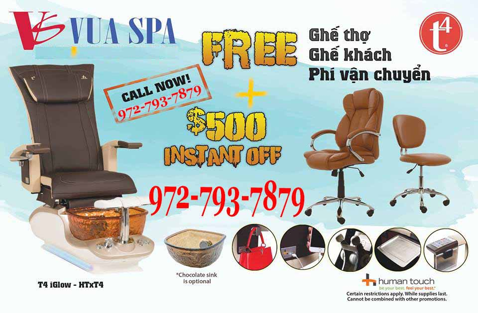 Pedicure Chairs T4 Spa Promotion HOT 2017